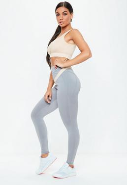Active Grey Full Length Leggings