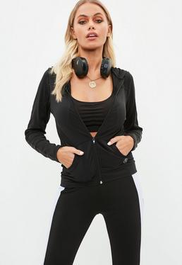 Active Czarna bluza z kapturem
