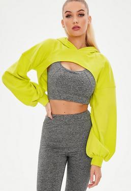 Active Zielona krótka bluza