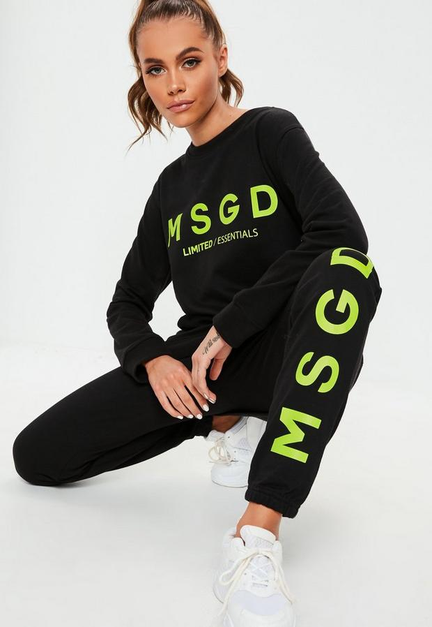 Missguided - Contrast Msgd Joggers - 1
