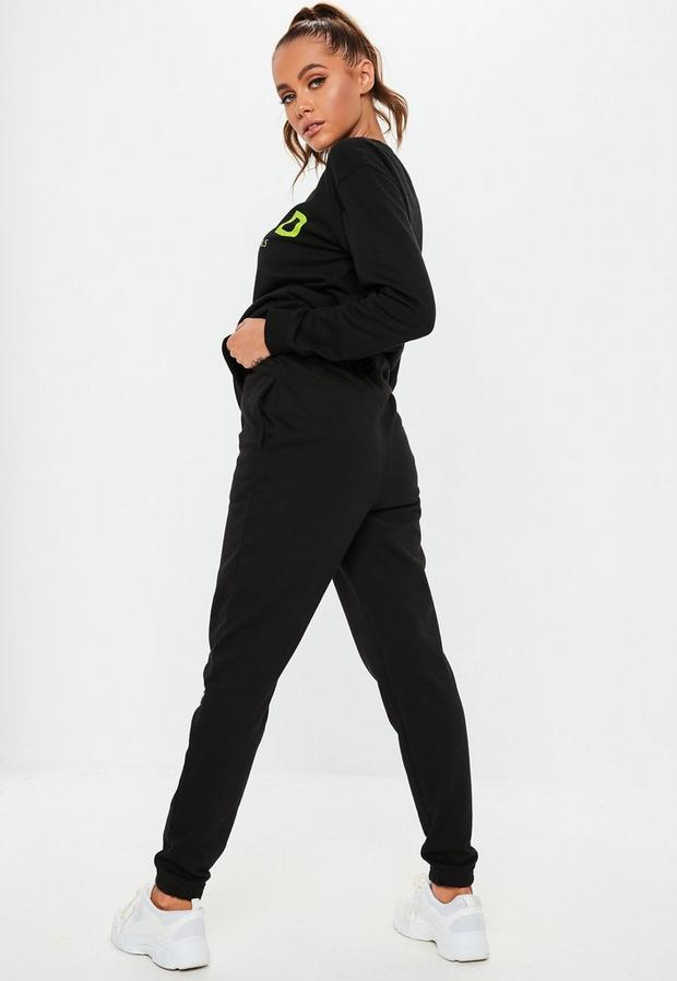 Missguided - Contrast Msgd Joggers - 4