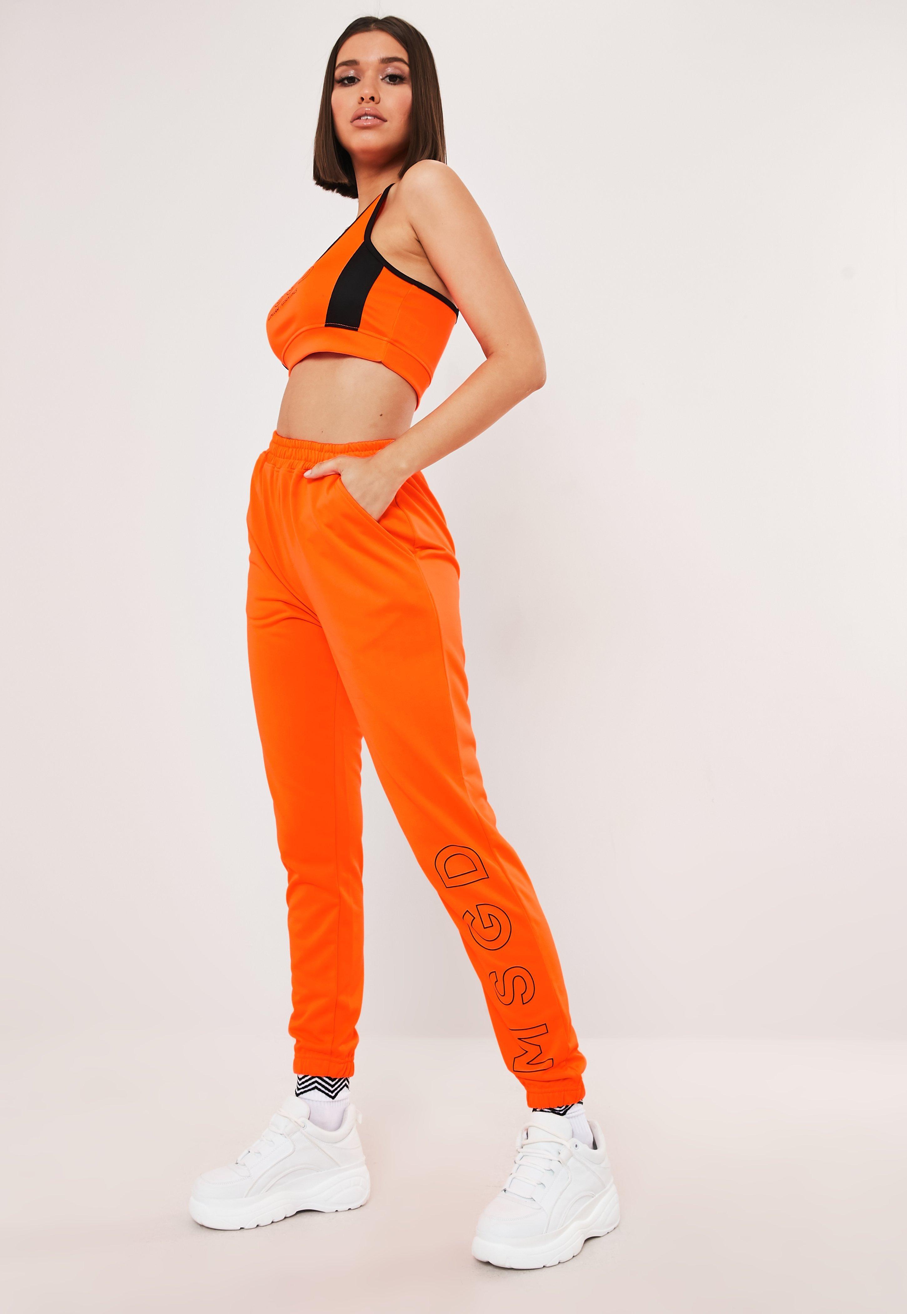 e4e20438c2d0 Neon Orange MSGD Gym Joggers