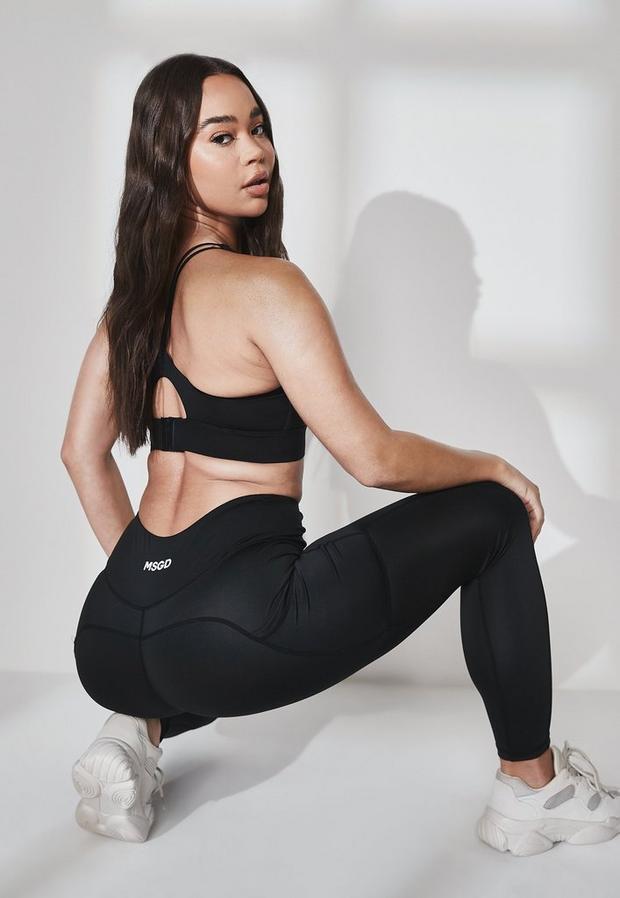 recycled black pocket gym leggings