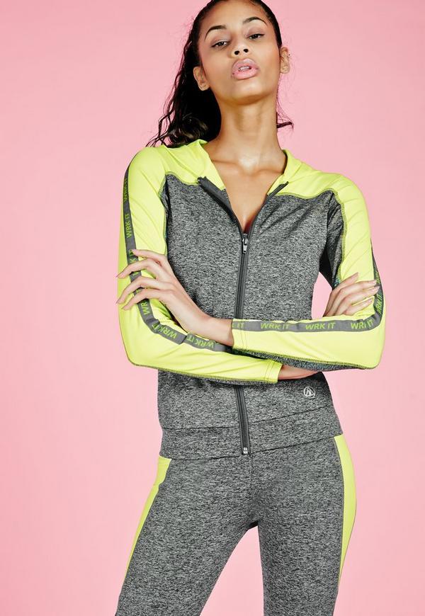 Active Zip Hooded Jacket Grey