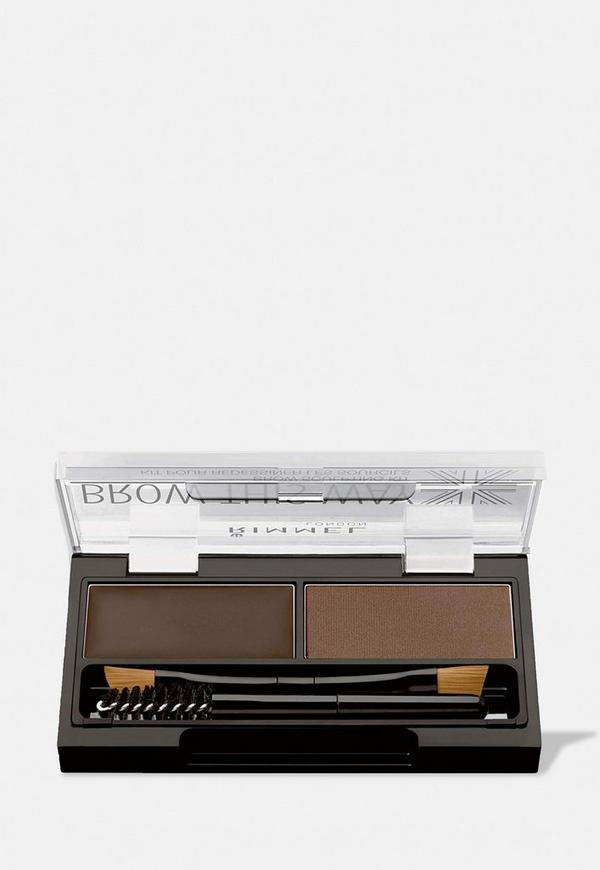Rimmel Brow This Way Dark Brown 2 In 1 Eyebrow Kit Missguided