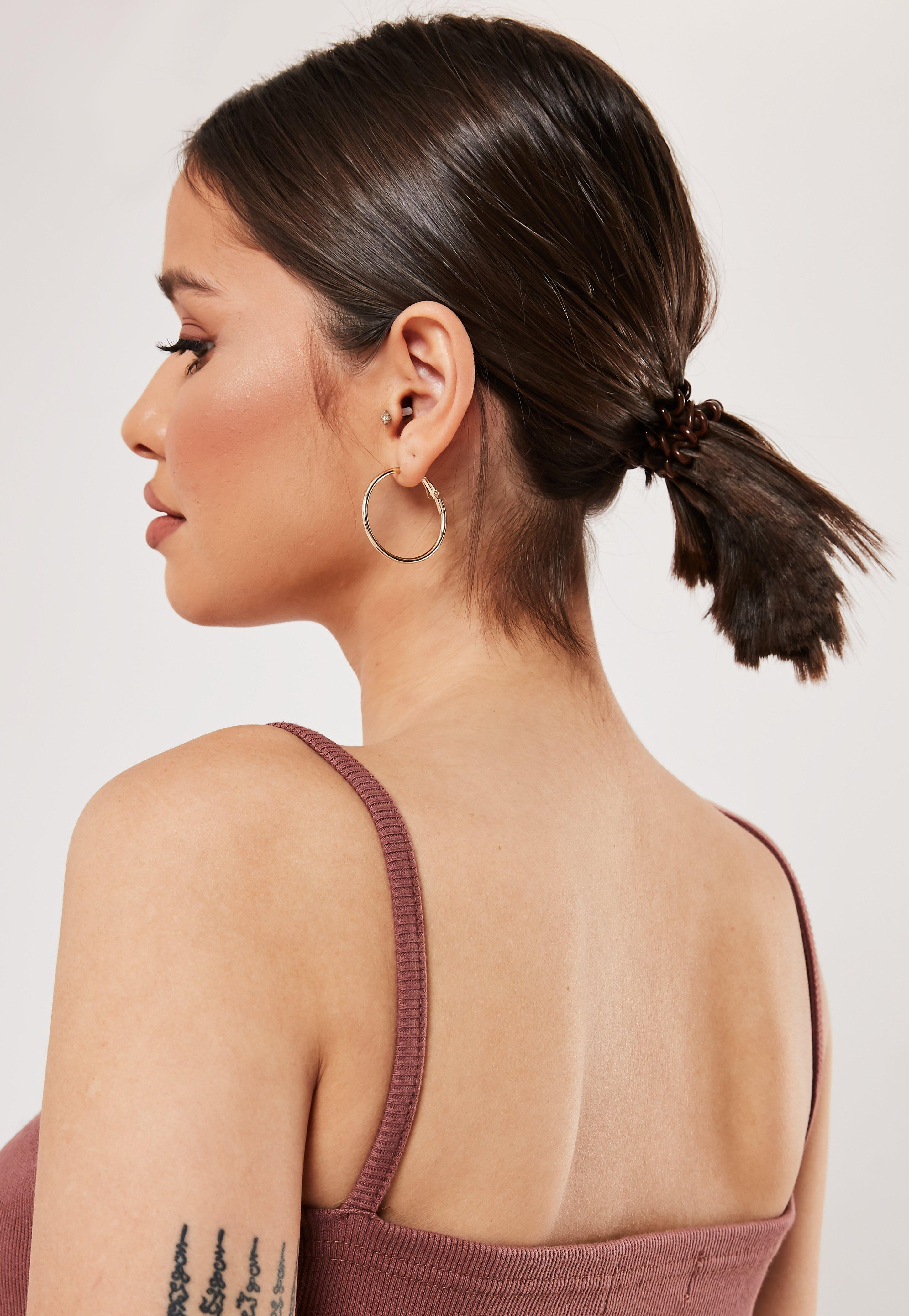 Invisibobble 3 Pack Power Pretzel Brown Hair Bobble by Missguided