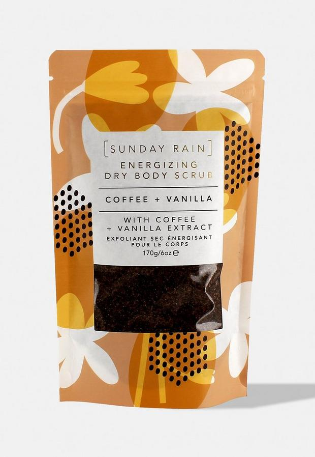 sunday rain coffee & vanilla dry scrub, multi