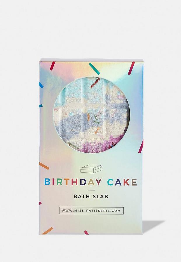 miss patisserie birthday cake bath slab