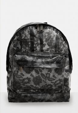 Mi Pac Black Transparent Lace Backpack