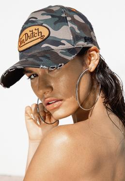 Von Dutch Zielona czapka bejsbolówka moro