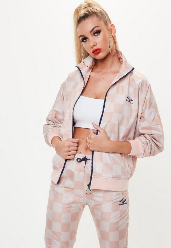 Umbro x Missguided Pink Oversized Batwing Track Top ...