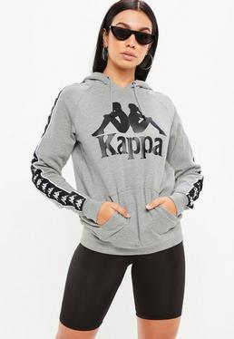 Kappa Sudadera con capucha Authentic Hurtado de forro polar en gris