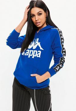 Kappa Sudadera con capucha Authentic Hurtado de forro polar en azul