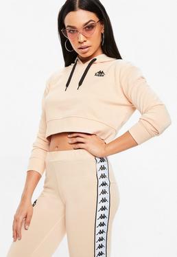 Kappa Brzoskwiniowa krótka bluza Authentic Zaly