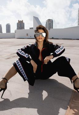 Kappa Black Banda Anniston Slim Jacket