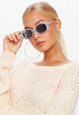 Quay Australia Liliowe okulary przeciwsłoneczne Lulu