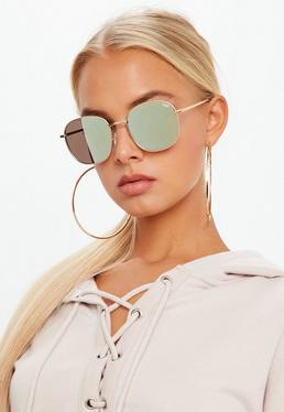 Quay Australia Złote okulary przeciwsłoneczne Jezbella