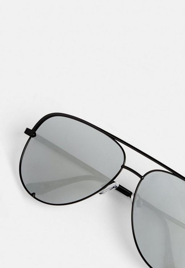 Quay Australia Black High Key Mini Sunglasses | Missguided