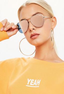 Quay Australia Gafas de sol High Key en oro rosa