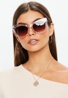 Quay Australia Gafas de sol Steel A Kiss en marrón
