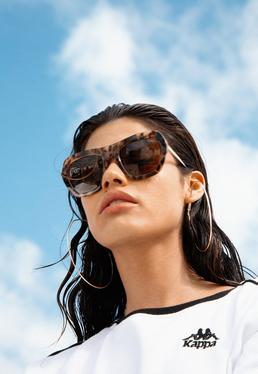 Quay Australia Brązowe okulary przeciwsłoneczne Common Love