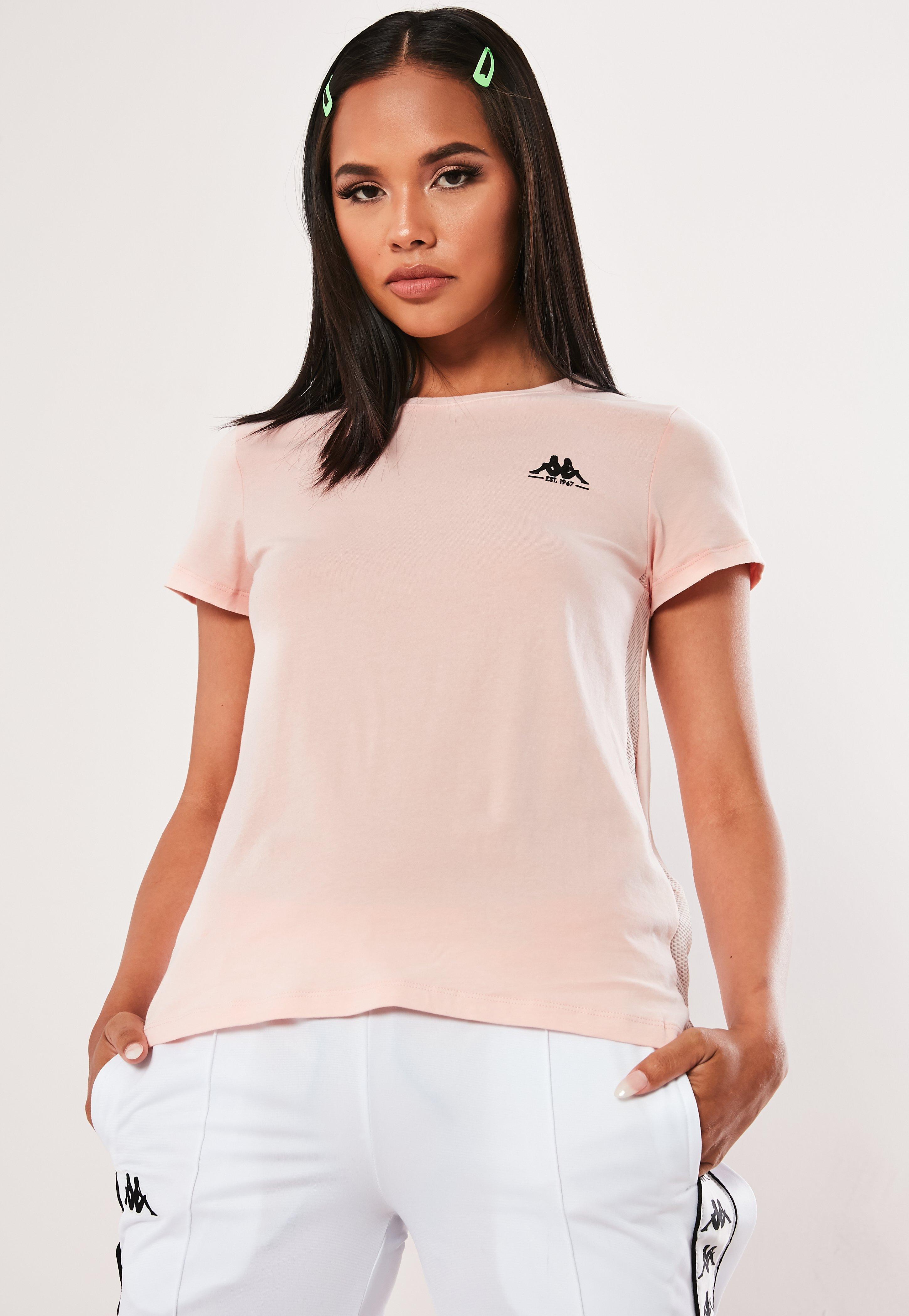 2a4f805f4c Kappa Pink Mesh Side T Shirt