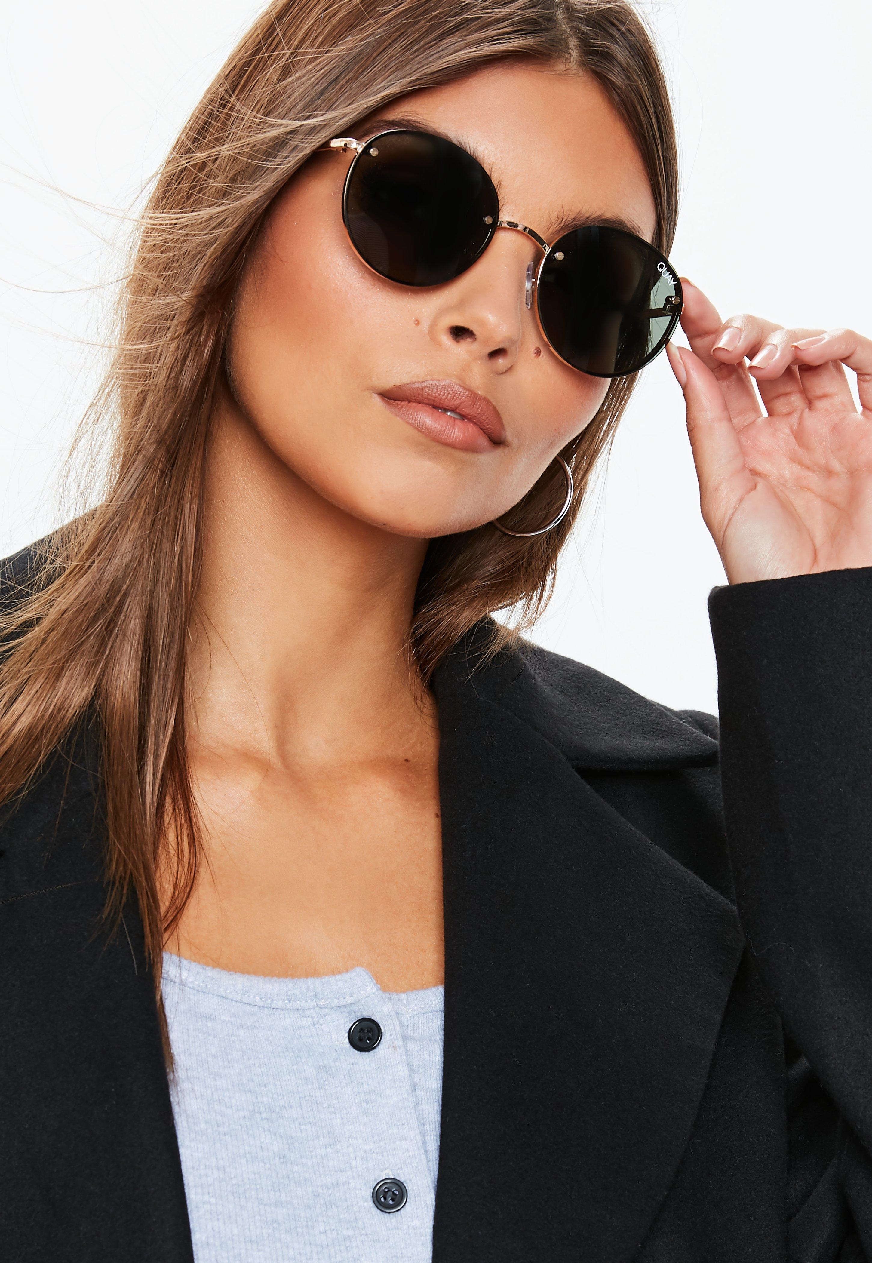 817f01b4cb Quay Australia X Elle Ferguson Farrah Gold Green Sunglasses ...