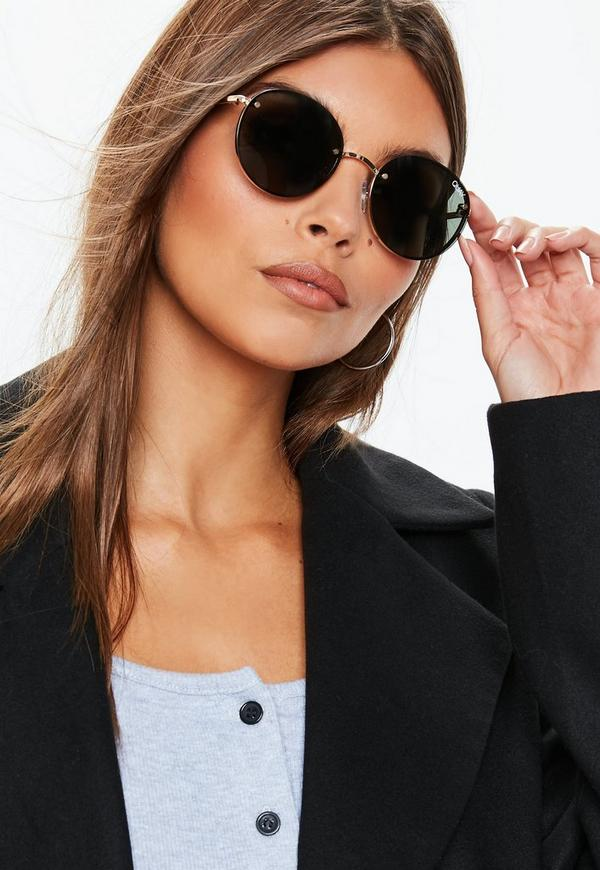 b9f3884f8d Quay Australia X Elle Ferguson Farrah Gold Green Sunglasses