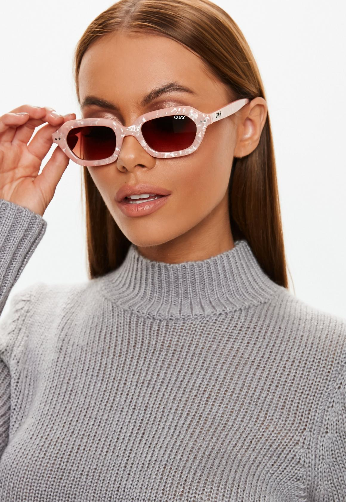 31cdecb2c0 Quay Australia X Finders Keepers Anything Goes Peach Pearl Sunglasses. Previous  Next