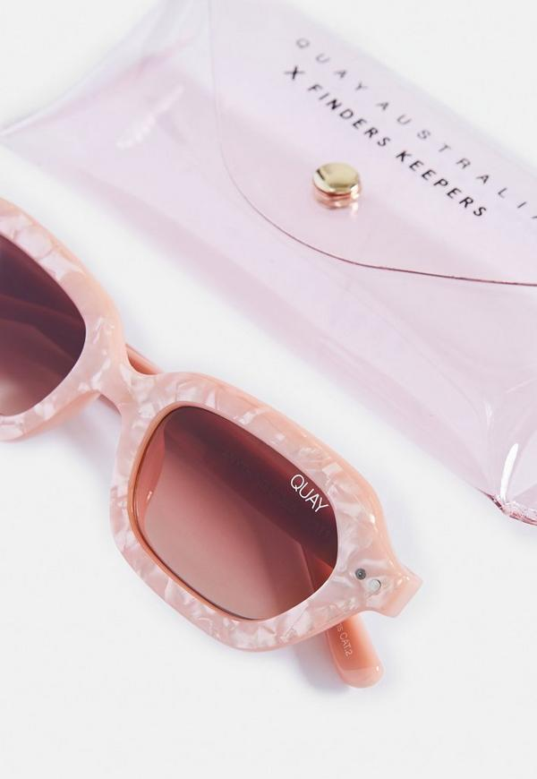 77a7272dd8 Quay Australia X Finders Keepers Anything Goes Peach Pearl Sunglasses.  Previous Next