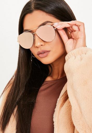 8ce45ba027d2e Quay Australia X Jaclyn Hill Roxanne Pink Gold Sunglasses