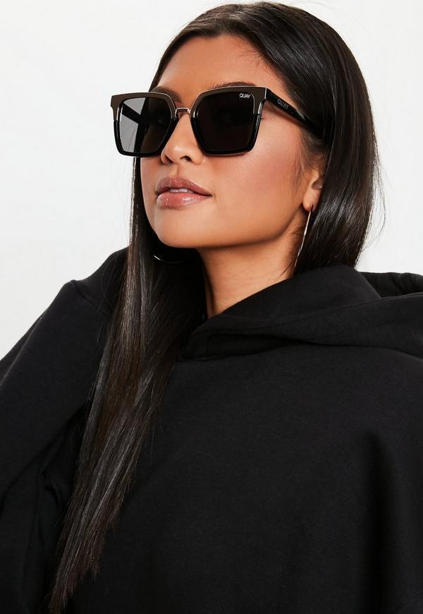 507d367e6bc Quay Australia X Jaclyn Hill Upgrade Black Gold Sunglasses