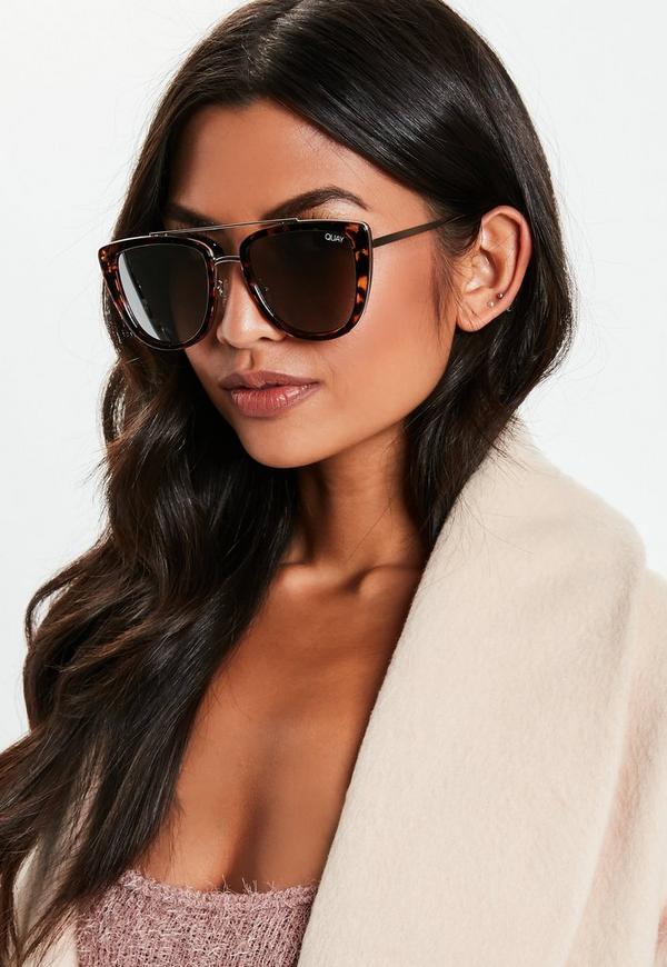 3285b9c36f4 ... Quay Australia French Kiss Tortoiseshell Sunglasses. Previous Next