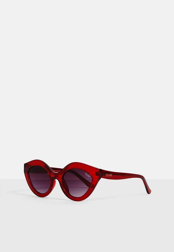 fee4658078 Quay Australia Good Night Kiss Burgundy Sunglasses