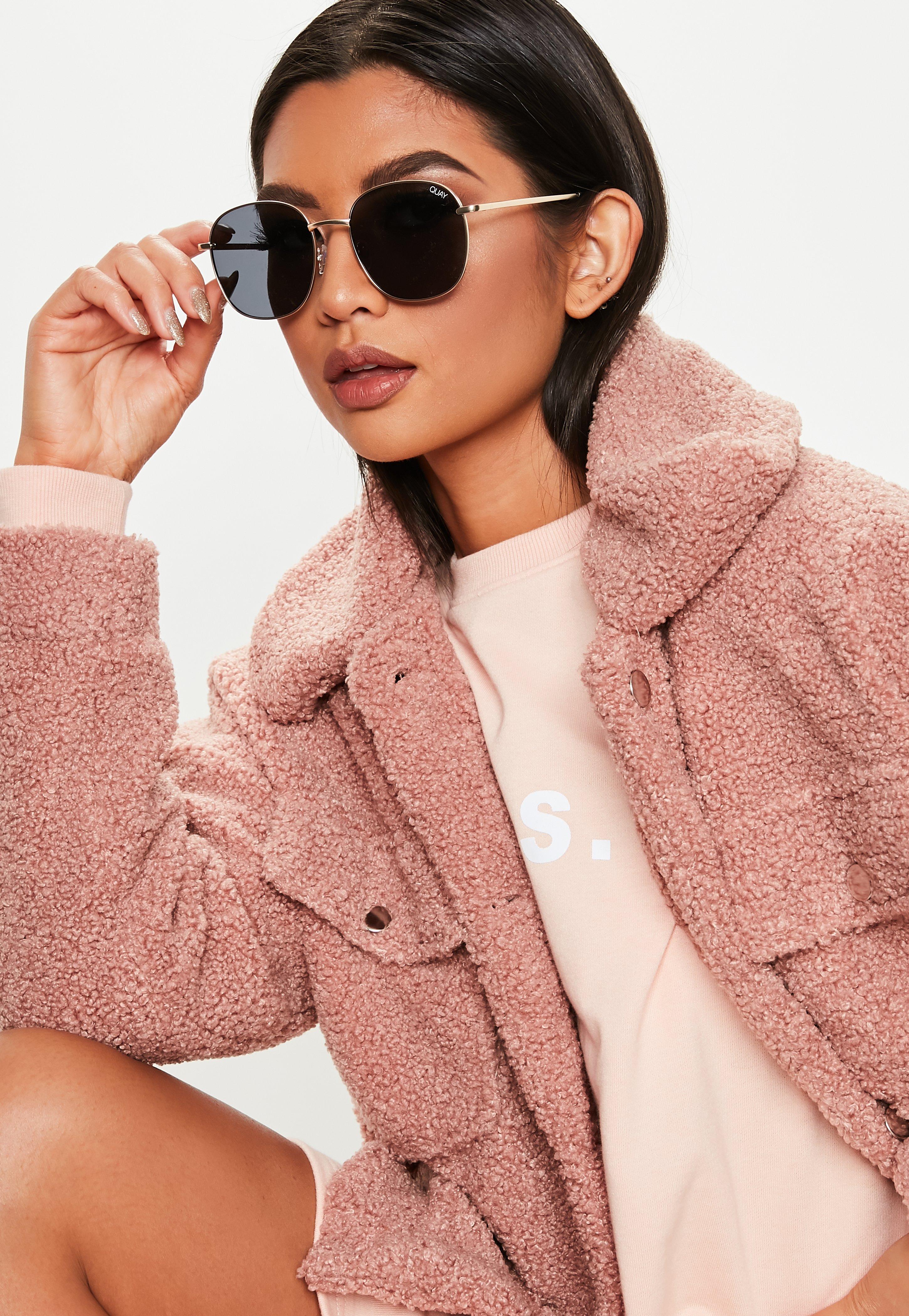 27984c64c072 Quay Australia Jezabell Gold Smoke Sunglasses | Missguided