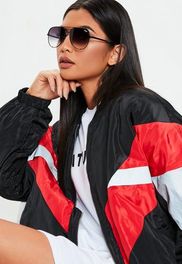 Quay Australia X Desi Perkins High Key Mini Black Fade Sunglasses by Missguided