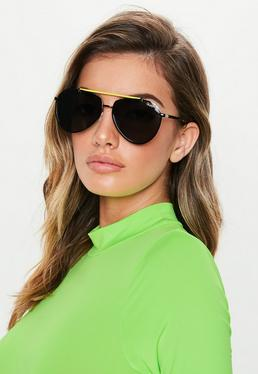 604a13d12680 ... Quay Australia Dirty Habit Black Sunglasses