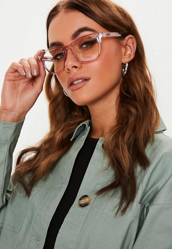 Quay Australia Hardwire Pink Sunglasses Missguided