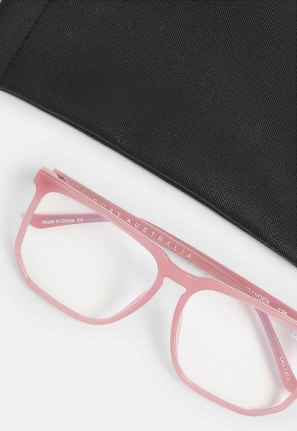 Quay Australia Stranger Pink Glasses Missguided Australia