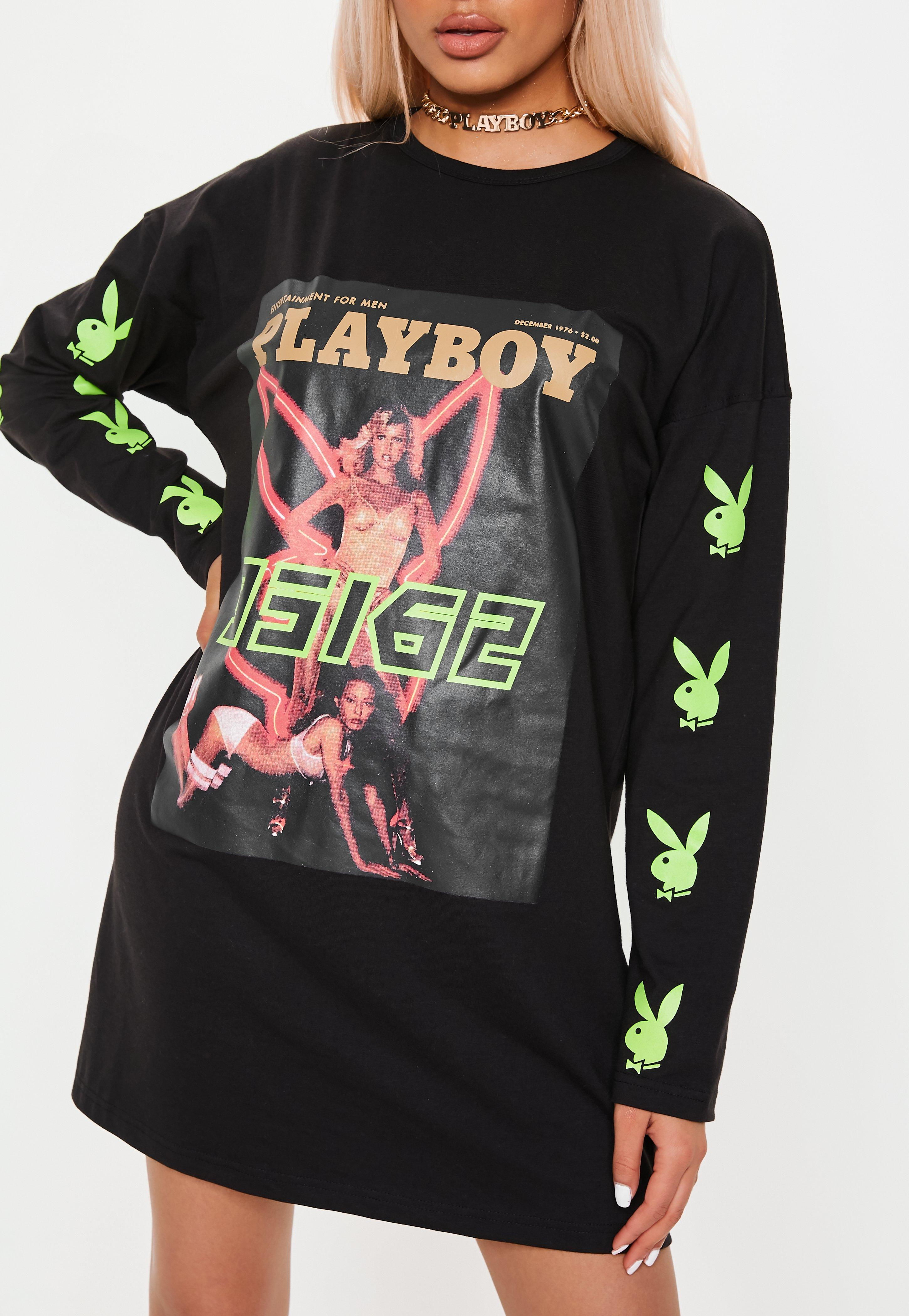 72e99397a3 Playboy X White Neon Bunny Graphic T Shirt Tops