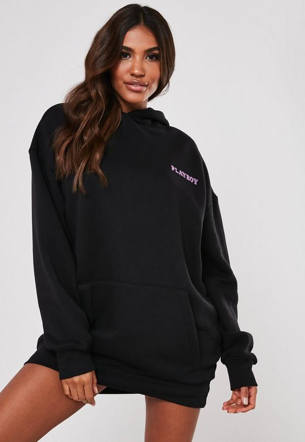 Playboy Oversized Girl Hoodie Dress Missguided