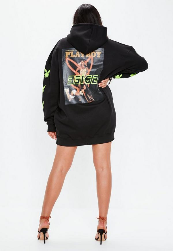 046660b7bc9 ... Plus Size Black Oversized Girls Print Back Hoodie Dress. Previous Next