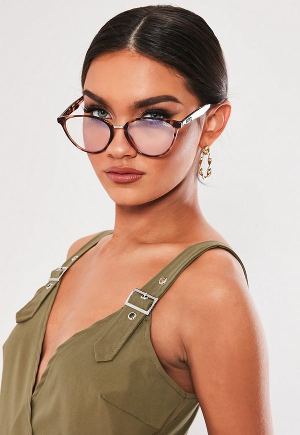 Quay Australia Rumours Blue Light Tortoiseshell Glasses