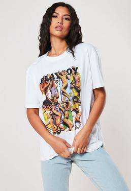 4fb5747e Black Prince Purple Rain Graphic T Shirt; Playboy X Missguided White Girls  Vacation Magazine Graphic Oversized T Shirt