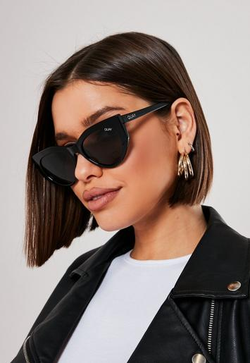 Quay Australia Black Persuasive Sunglasses by Missguided
