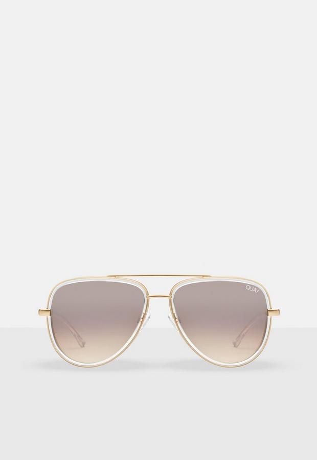 quay australia gold look all in mini sunglasses