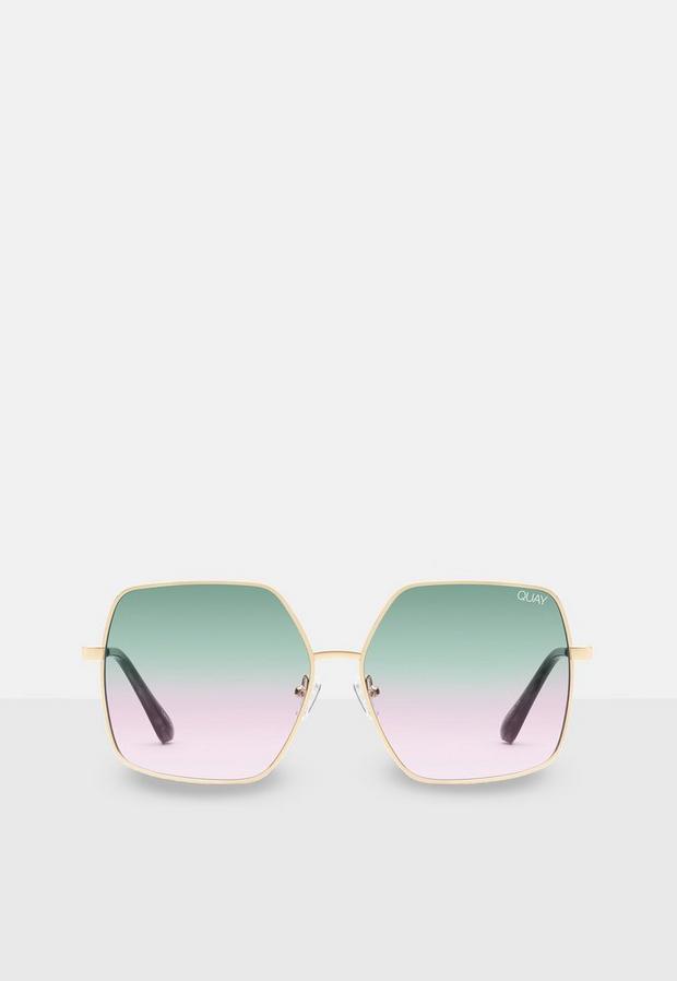 quay australia green backstage sunglasses