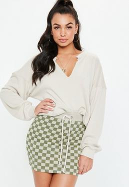 bee4248581021 Mini Skirts. Snake Print Trousers