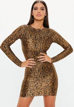 ca20bba8b9 Snake Print Trousers · Long Sleeve Dresses