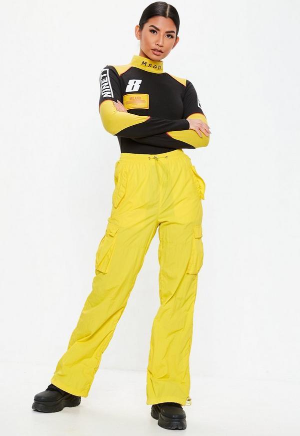 f5017ddea0 Black Racer Panel Detail Bodysuit. Previous Next